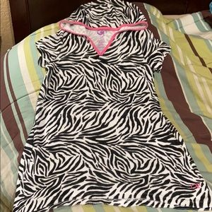 Girls Pullover Terry Coverup. EUC